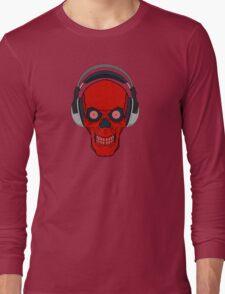 skull rock - red Long Sleeve T-Shirt