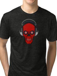 skull rock - red Tri-blend T-Shirt