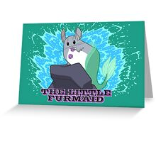 The little Furmaid Greeting Card