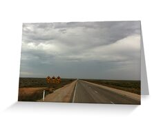 Australian Outback Highway- crossing the Nullarbor Greeting Card