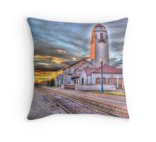 Sunset Depot - Graphic Novel Throw Pillow