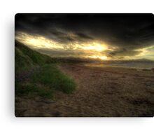 Dark Sun Beach Canvas Print