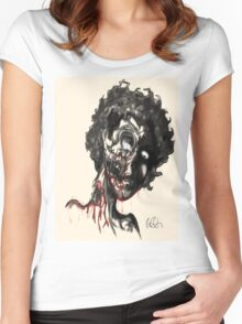 zombie doodle ! Women's Fitted Scoop T-Shirt