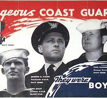 Courageous Coast Guardsmen by Robert Partridge