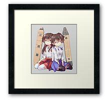 Akagi x Kaga Chibi Sleeps Framed Print