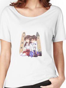 Akagi x Kaga Chibi Sleeps Women's Relaxed Fit T-Shirt