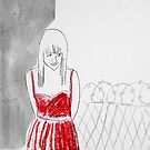 red dress by Loui  Jover
