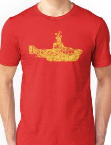 Grunge Yellow Submarine Unisex T-Shirt