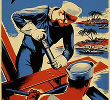 Build For Your Navy - Seabees by Robert Partridge