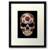 South Korean Flag Skull Framed Print