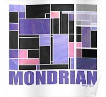 Mondrian Purple Pink Black  Poster