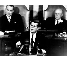 President John F. Kennedy Men to the Moon Speech May 25 1961 Photographic Print