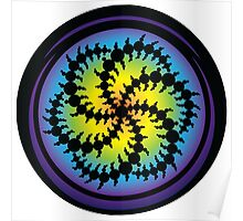 Double Six Sided Triskelion Crop Circle Poster