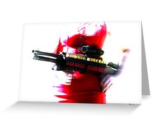 Killer Red  Greeting Card