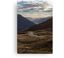 Crown Range Road Canvas Print