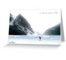 Lake Louise postcard Greeting Card