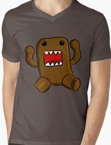 Domo Kun Mens V-Neck T-Shirt