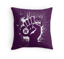 SNES Controller Splat Throw Pillow