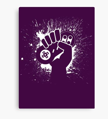 SNES Controller Splat Canvas Print