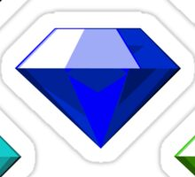 Sonic The Hedgehog Chaos Emeralds Sticker