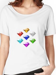 Sonic The Hedgehog Chaos Emeralds Women's Relaxed Fit T-Shirt
