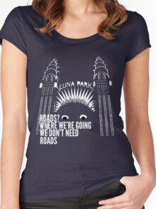 All Roads Lead to Luna Park Women's Fitted Scoop T-Shirt