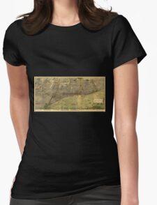 Panoramic Maps Bird's eye view of Chicago 1893 T-Shirt