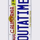 Outatime License Plate Back To The Future - iphone 4 4s, iPhone 3Gs, iPod Touch 4g case by Pointsale store.com