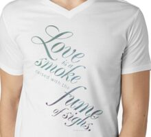 """""""Love is a Smoke"""" Shakespeare Quote Mens V-Neck T-Shirt"""