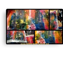 2012 Studio Play - Hand Painted Tissue Paper Canvas Print