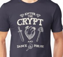 Enter the crypt. Unisex T-Shirt