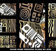 2012 Studio Play - Handmade Printing Plates by © Angela L Walker