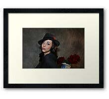 Micki & Red Roses. Framed Print