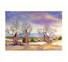 cockburn range with boab trees west australia Art Print