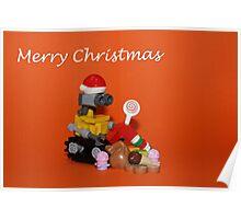 Merry Christmas - Wall E Poster