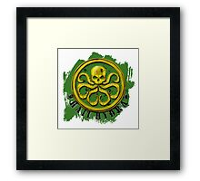 Hydra Gold on Green Framed Print