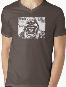 Slimer Has A Posse Mens V-Neck T-Shirt