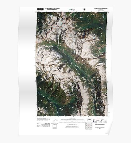 USGS Topo Map Washington State WA Clark Mountain 20110427 TM Poster