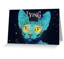 lying cat Greeting Card
