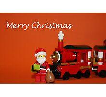 Christmas Train - Santa Photographic Print