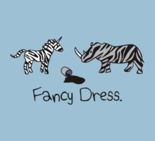 Unicorn & Rhino - Zebra Fancy Dress One Piece - Short Sleeve