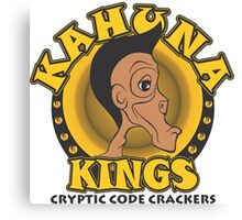 KAHUNA KINGS Cryptic Code Crackers Canvas Print
