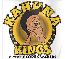 KAHUNA KINGS Cryptic Code Crackers Poster