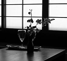 Japanese back light and orchids  by Mick Kupresanin