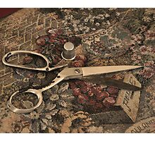 Granny's Scissors Photographic Print