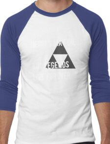 Heroes May Die (White Text) Men's Baseball ¾ T-Shirt