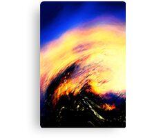 blue vapor.... flame Canvas Print