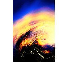 blue vapor.... flame Photographic Print