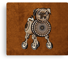 Steampunk Pug Canvas Print
