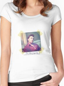 Ed Westwick retro Women's Fitted Scoop T-Shirt